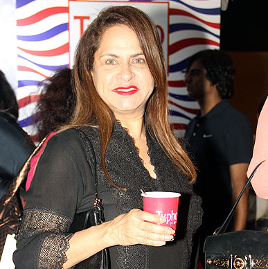 Ramola Bachan savouring the Typhoo Green Tea mocktail at Typhoo Tea Bar at Amazon India Fashion Week 2015