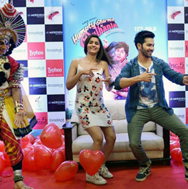 Friday Friday sings Typhoo as Varun and Alia danced to Saturday Saturday! Good Fun and Great Taste!