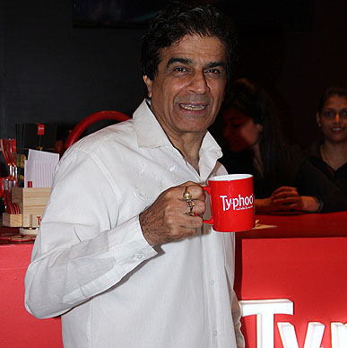 Typhoo caught actor Naseer Abdulla enjoying every sip of his favourite brew