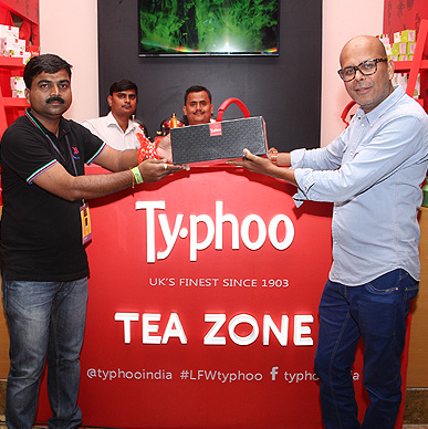 Narendra Kumar fell in love with the variants of Typhoo at Lakme Fashion Week Tea Zone