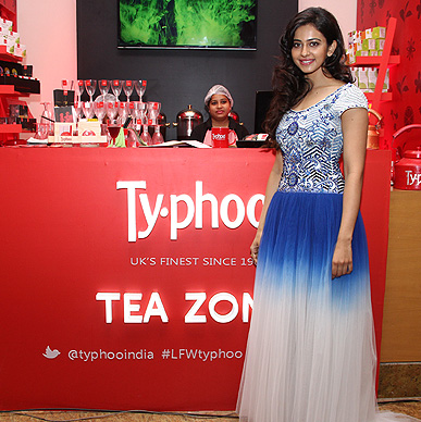 Looking ravishing in a blue gown actress Rakul Preet Singh, Former Pantaloons Femina Miss Fresh Face 2011 at Lakme Fashion Week Typhoo Tea Zone