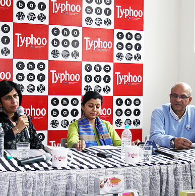 Talk over Typhoo moderated by senior journalist Sharmila Chand, with Dietician Dr. Neelanjana Singh and Typhoo's Business Head Mr. Subrata Mukerji amongst the panelists discussing different ways of blending tea with mocktails.