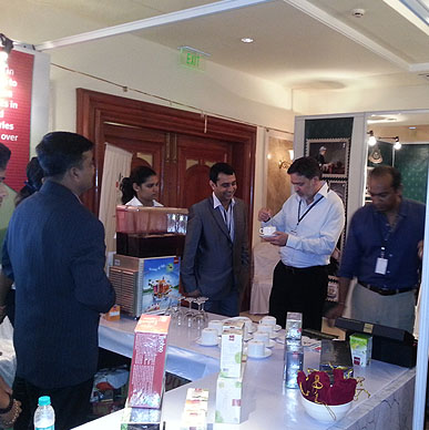 Typhoo gets tested by Nadeem Ahmed of Global Tea amd Karan Paul of Apeejay Tea Group - India International Tea Convention 2012, Goa