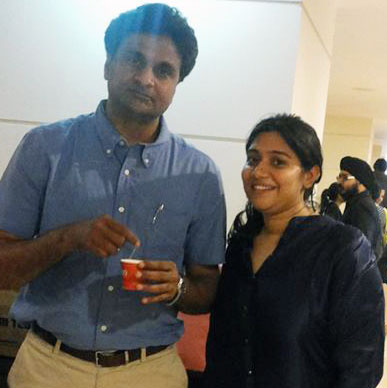 Pictures we love ! People who care for and enjoy Typhoo! and Typhoo too loves the ever smiling talented Javagal Srinath