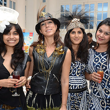 Malini Ramani with Guests at Typhoo Mad Hatter's Tea Party presented by Cha Bar & Typhoo