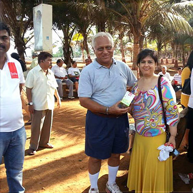 Typhoo brings smiles to K H Kuvavala, Laughter Record Holder, Limca Book of World Records and Naini Setalvad - Priyadarshini Park, Napean Sea Road