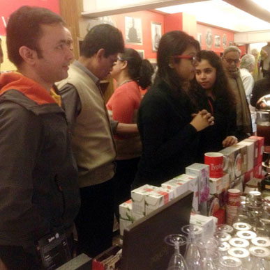 Literary enthusiasts enjoy the Typhoo range at AKLF2015.