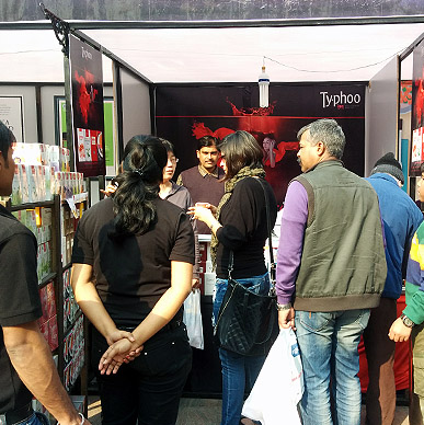 Visitors  at Gurgaon Farmers Market were mesmerized with the explosive mix of the enticing fresh fruits and exotic herbs of Typhoo Infusion.