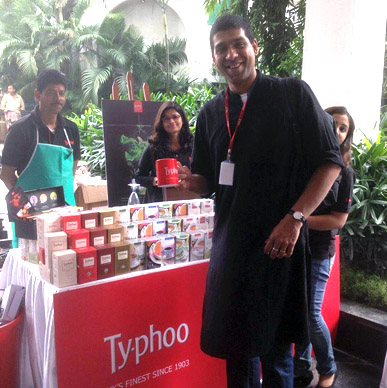 Typhoo Classic Assam enjoyed by author Jeroninio Almeida #AKLF2015.
