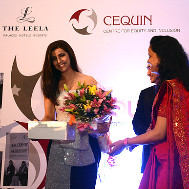 Actress Nimrat Kaur presented with Typhoo's fruit infusions at Wow Men Awards hosted by Cequin.