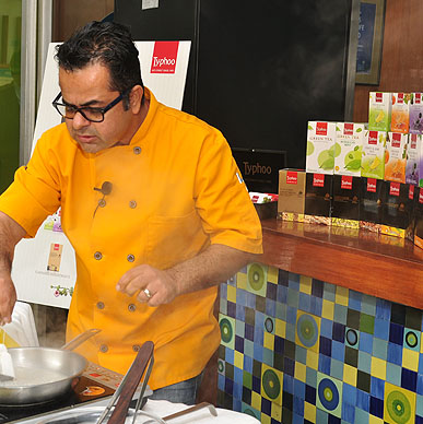 Typhoo is happy to be cooked in Food and paired with Food -  Typhoo Tea and Food pairing by Cef Vicky Ratnani at The Park, New Delhi
