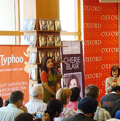 Typhoo cheers a good book, Cherie Blair's  'Speaking for Myself' - Oxford Bookstore Connaught Place
